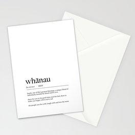 Maori Whanau (Family) Definition Stationery Cards