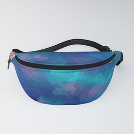 Blue-pink abstract polygonal background Fanny Pack