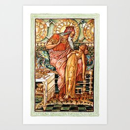 Midas' Daughter Turned To Gold Art Print
