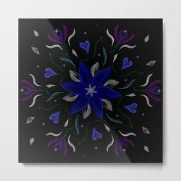 Blue Starflower Metal Print