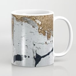 Still: an abstract mixed media piece in black, white, and gold by Alyssa Hamilton Art Coffee Mug
