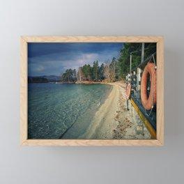 Autumn lake Framed Mini Art Print