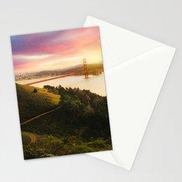 Golden Gate Bridge | San Francisco California Landscape Sunset Travel Photography Stationery Cards