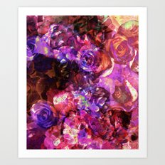 Valley of Roses Art Print