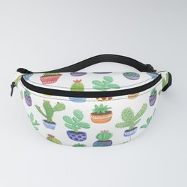 Watercolor Cactus + Succulents Fanny Pack