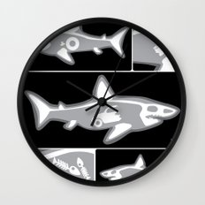 Shark X-Ray Wall Clock