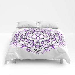 VIOLET SACRED GEOMETRY Comforters
