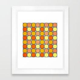 Polka Brights (yellow/orange) Framed Art Print