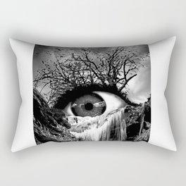 Cascade Crying Eye grayscale Rectangular Pillow