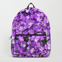 Pretty Purple Flowers, Purple Ground Cover, Beautiful Flowers Backpack