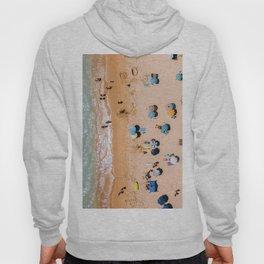 People On Algarve Beach In Portugal, Drone Photography, Aerial Photo, Ocean Wall Art Print Hoody