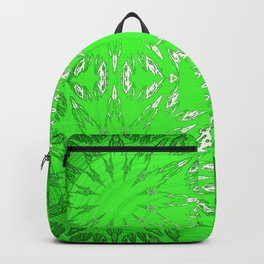 Green Color Burst Floral Backpack