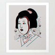 Psychedelic Geisha Art Print