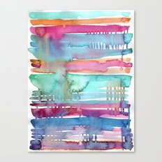 Water Stripes Canvas Print