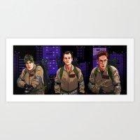 ghostbusters Art Prints featuring Ghostbusters by Ryan Ketley