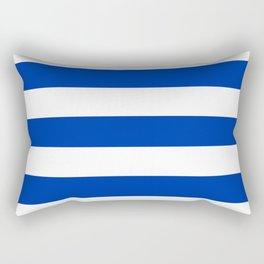UA blue - solid color - white stripes pattern Rectangular Pillow