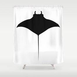 manta fish Shower Curtain