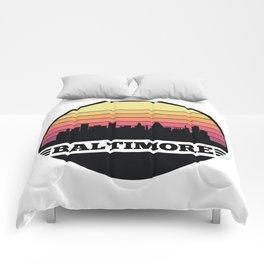 Baltimore Skyline Comforters
