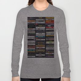 Old 80's & 90's Hip Hop Tapes Langarmshirt