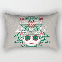 Christmas woman tree Rectangular Pillow