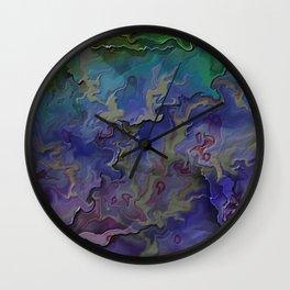 Silken Shards Wall Clock