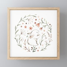 Watercolor Bunny Framed Mini Art Print