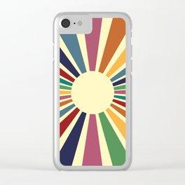 Sun Retro Art II Clear iPhone Case
