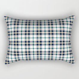Midnight Gemstone 1200 Twill Plaid Rectangular Pillow