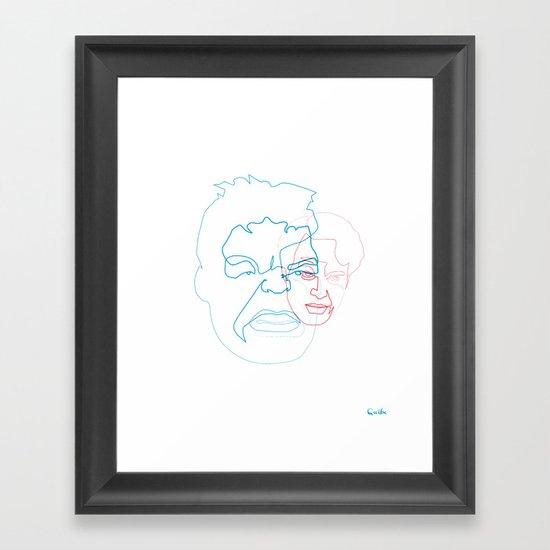 One Line Hulk/Banner Framed Art Print