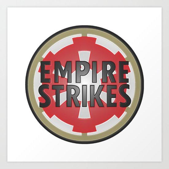 Empire Strikes Tobacco Art Print
