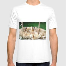 Bunnies In A Basket... Mens Fitted Tee MEDIUM White