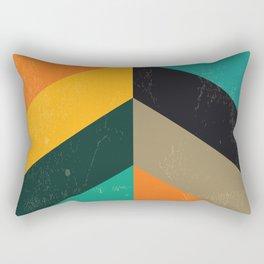 Mid Century Chevron Art Rectangular Pillow