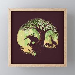 The jungle says hello Framed Mini Art Print