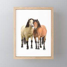 Standing Together Framed Mini Art Print