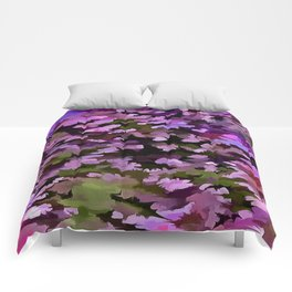 Foliage Abstract Pop Art In Ultra Violet and Purple Comforters