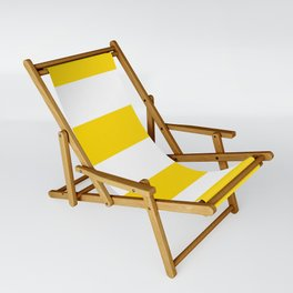 Sunshine Yellow and White Stripes Sling Chair