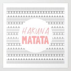 Hakuna Matata II Art Print