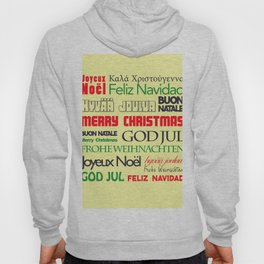 merry christmas in different languages I Hoody