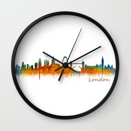 London City Skyline HQ v3 Wall Clock