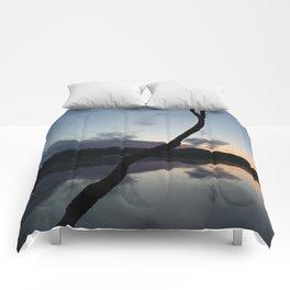Sunset on lake, Nature Photography, Landscape Photos, sunset photos Comforters
