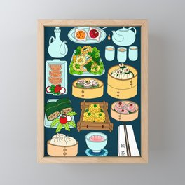 Dim Sum Lunch Framed Mini Art Print