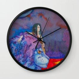 Solar Lion Wall Clock