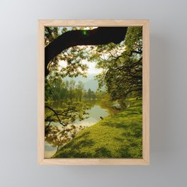 Breezy spring Framed Mini Art Print