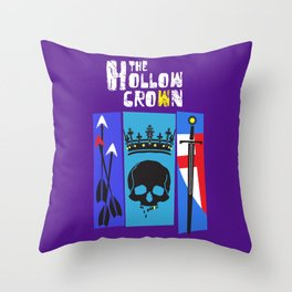 The Hollow Crown Throw Pillow