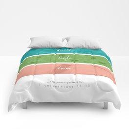FAITH + HOPE + LOVE Comforters