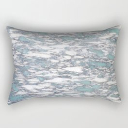 Teal spotted marble Rectangular Pillow