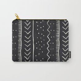Moroccan Stripe in Black and White Carry-All Pouch