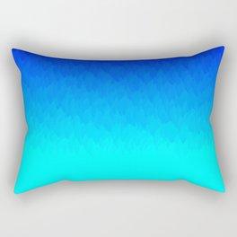 Electric Blue Ombre flames / Light Blue to Dark Blue Rectangular Pillow