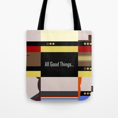 TNG - All Good Things - Minimalist Star Trek TNG The Next Generation 1701 D  startrek  Trektangles Tote Bag