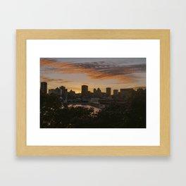 Montreal Dusk Framed Art Print